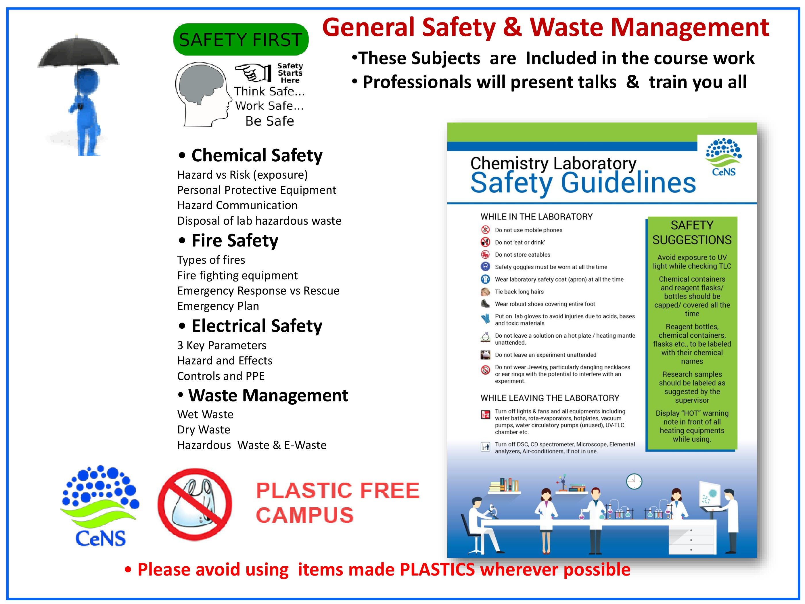 General Safety and Waste Management